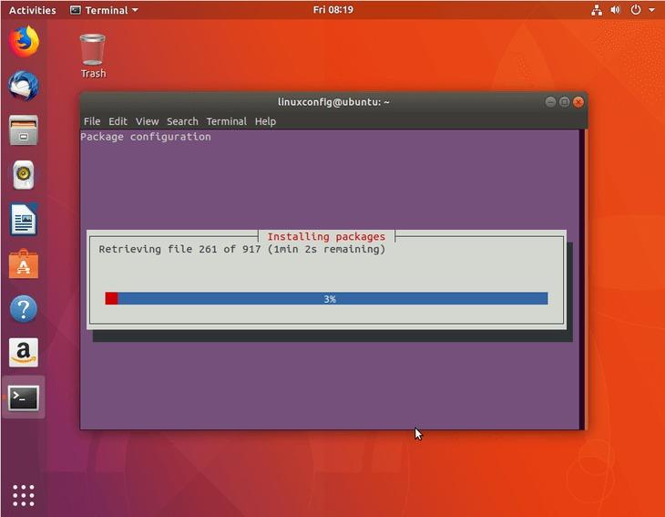 installation of KDE plasma desktop packages