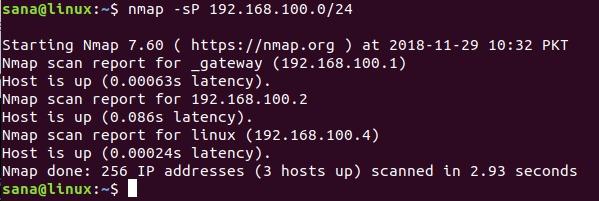 nmap network scan