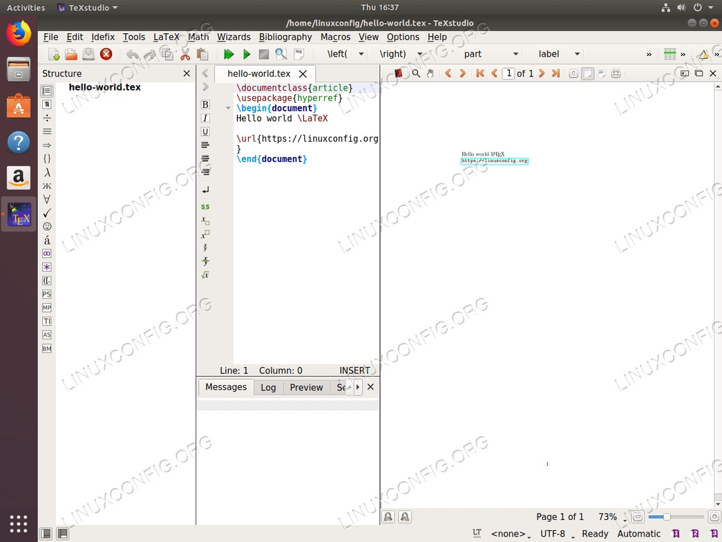 TeXstudio LaTeX editor on Ubuntu 18.04