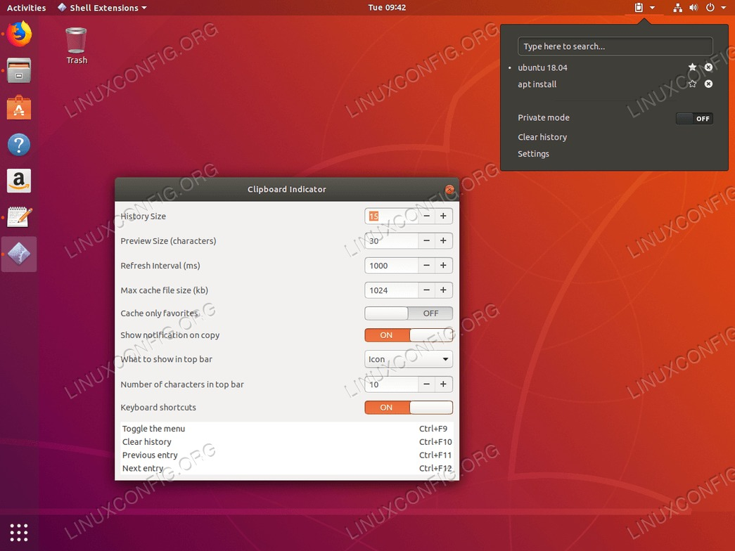 Clipboard on Ubuntu 18.04
