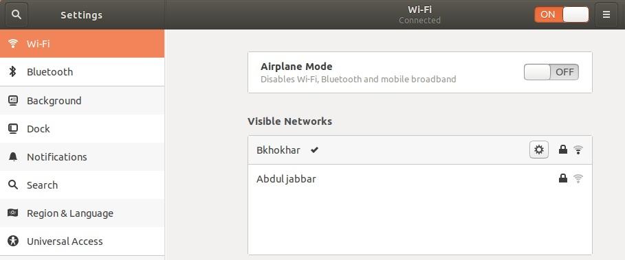 Wi-Fi settings utility