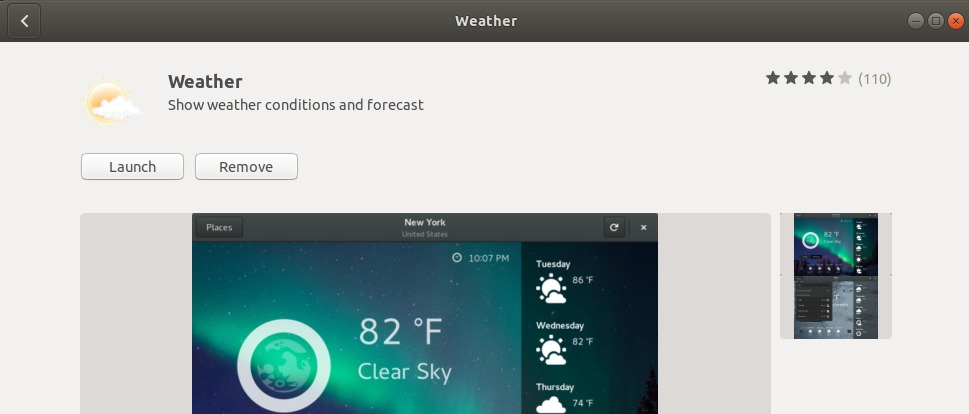 Uninstall Gnome Weather
