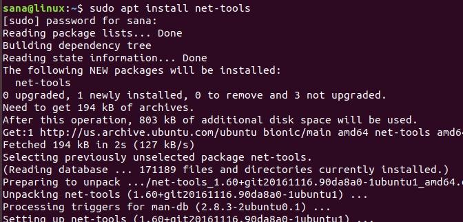 Install net-tools