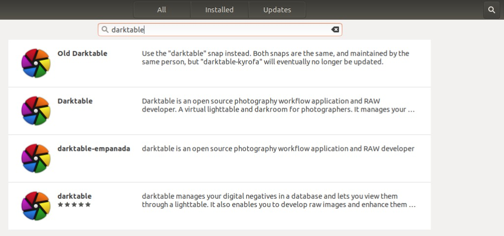 Install Darktable