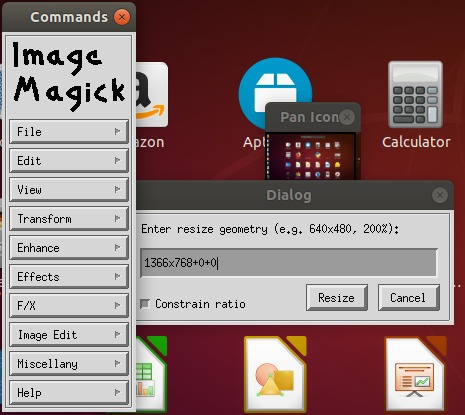 Resize Image with ImageMagick