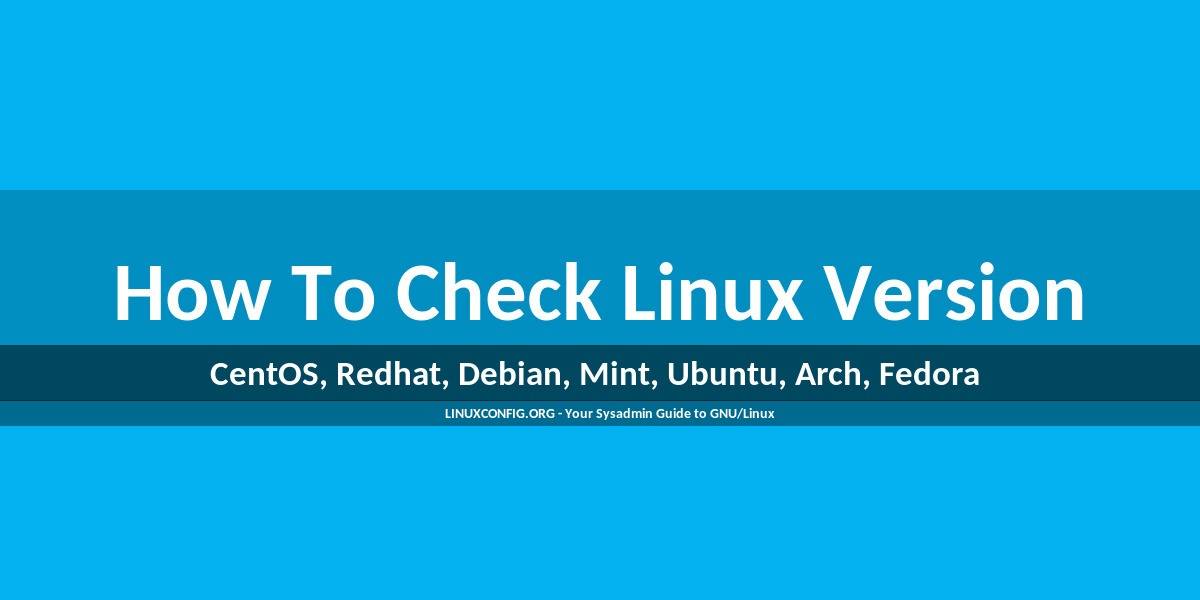 How to check Linux version