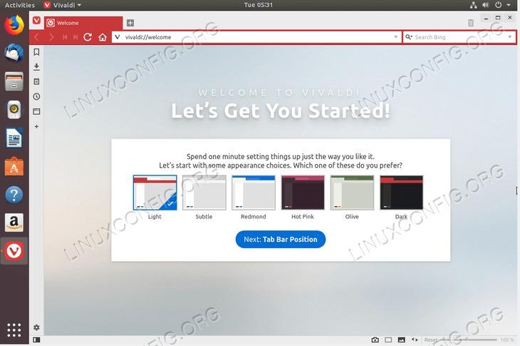 install Vivaldi Browser on Ubuntu 18.04 Bionic Beaver