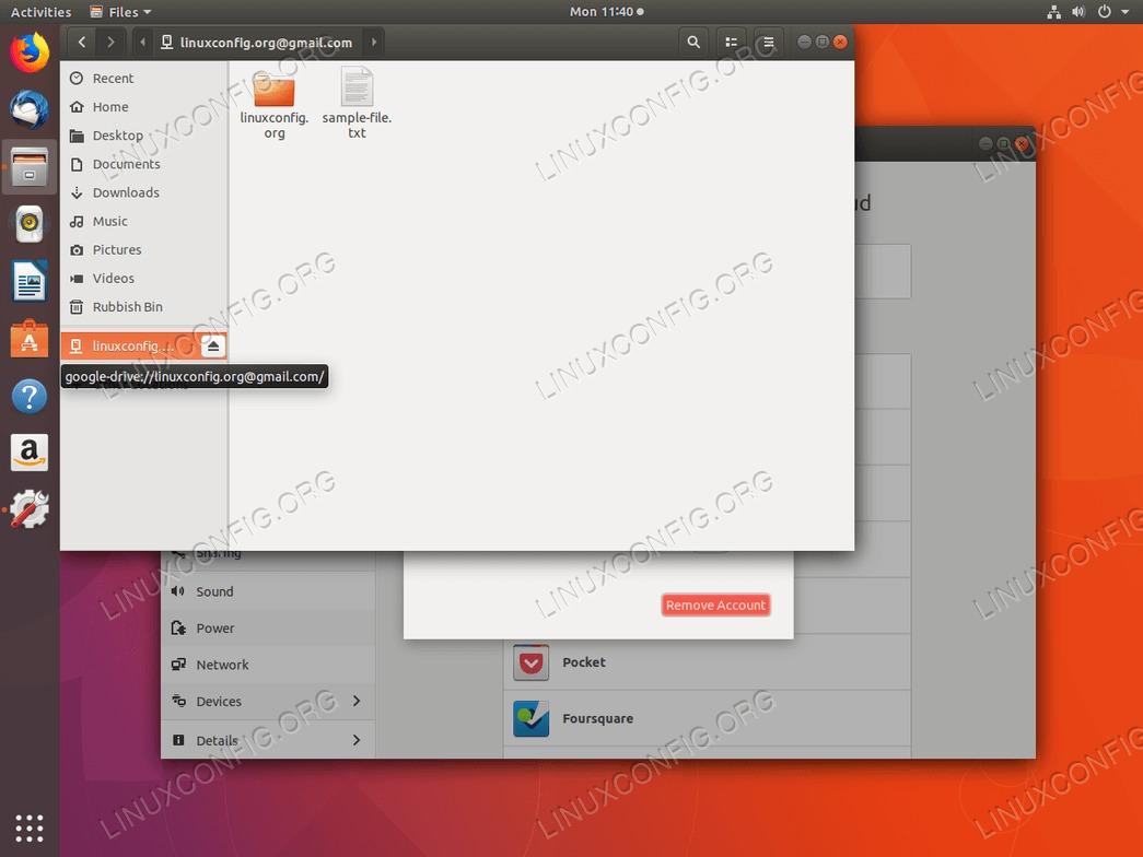 Google Drive Ubuntu 18.04 - Access google drive files