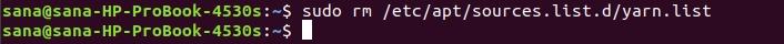 Remove Yarn repository
