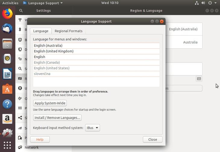 closer language settings