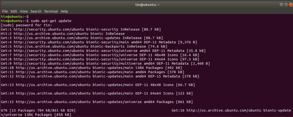 Update the package database