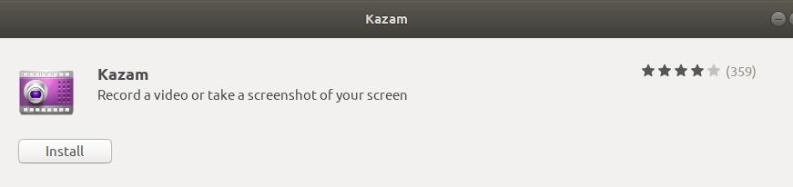 Install Kazam