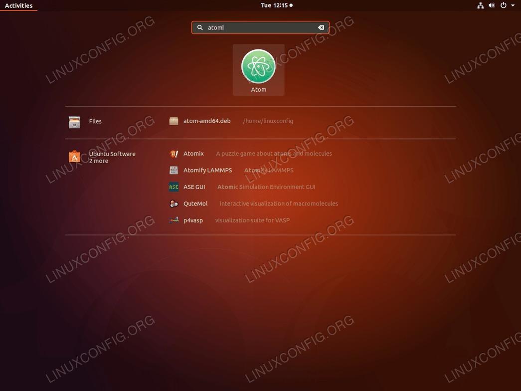 Atom - Ubuntu 18.04 - Launch