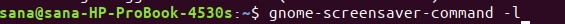 Lock the screen using gnome screensaver command