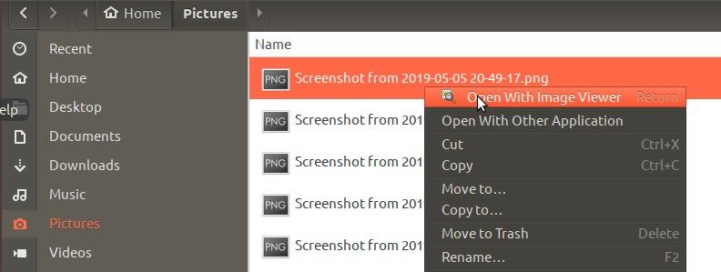 Open Photo with Image Viewer in Ubuntu