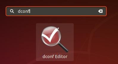 Start dconf editor