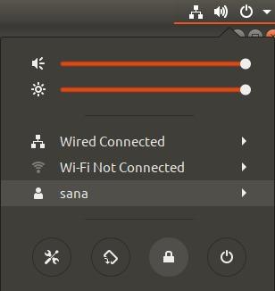 Lock screen using settings panel