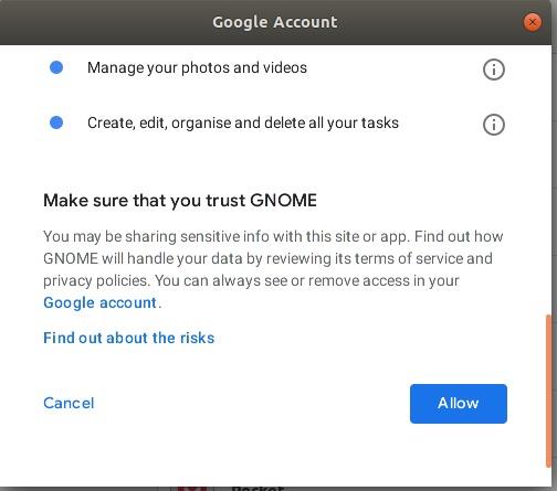 Trust GNOME application