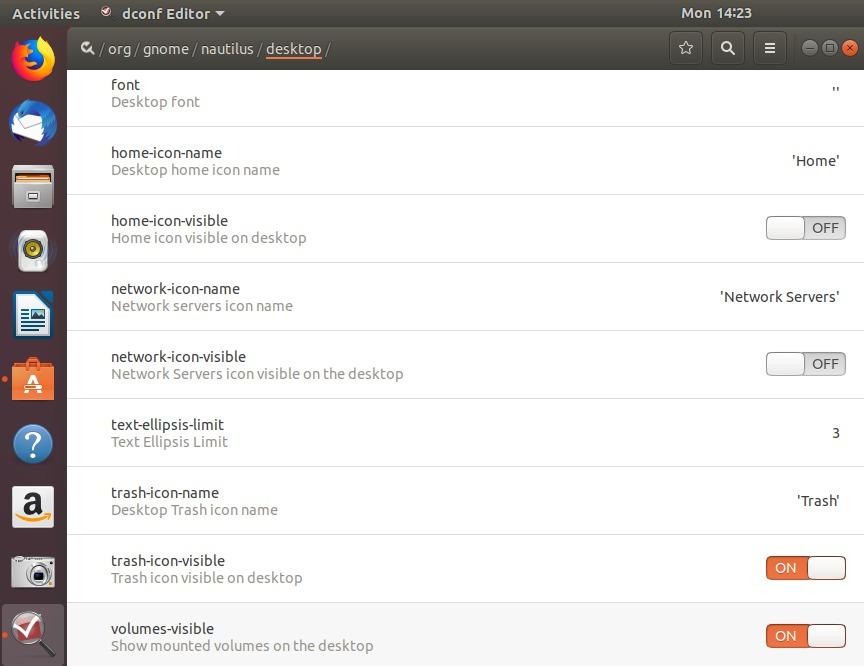 Open /org/gnome/nautilus/desktop/ path in Dconf Editor