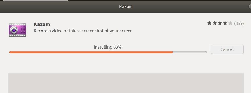 Installing Kazam