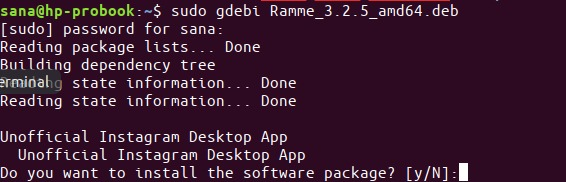 Install package with gdebi