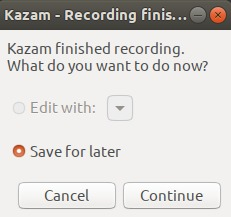 Save recording to disk