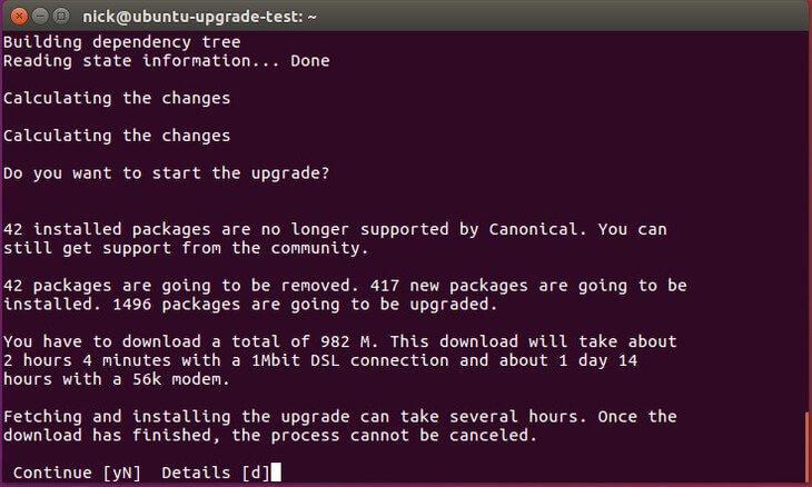 Ubuntu release upgrade tool