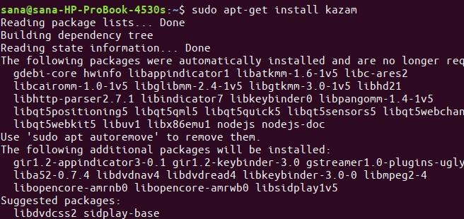Install Kazam Screen Recorder