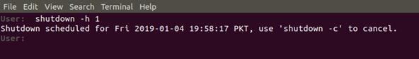 Shutdown Ubuntu in 1 minute