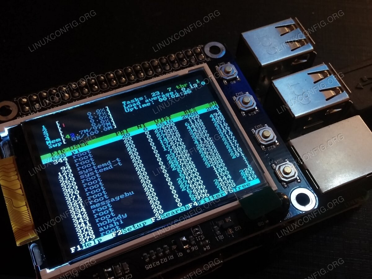 2.2 TFT screen could possibly add dimension to your Raspberry PI cluster.