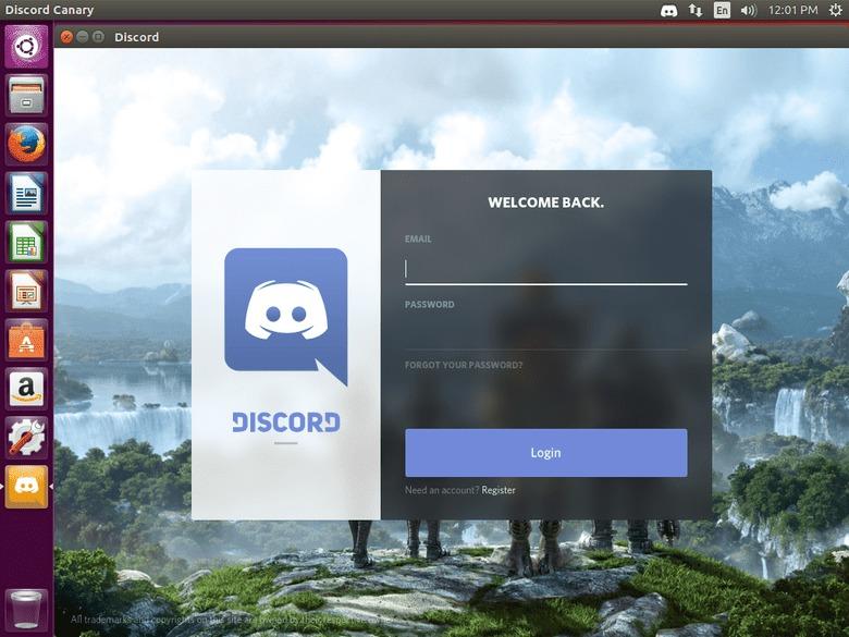 Discord running on Ubuntu