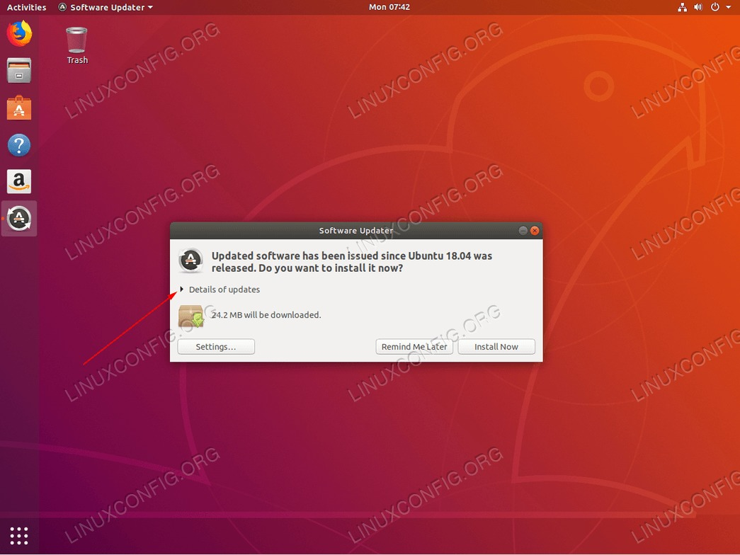 Ubuntu update - Details of updates