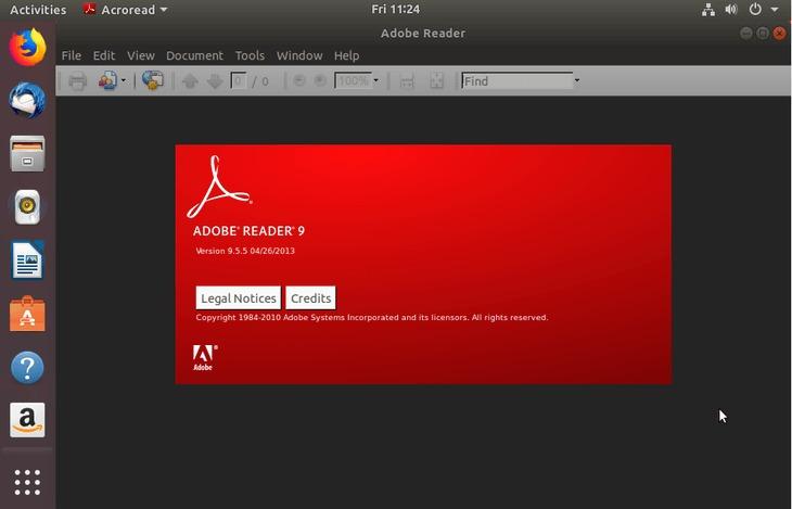 Installed adobe acrobat reader - ubuntu 18.04 bionic