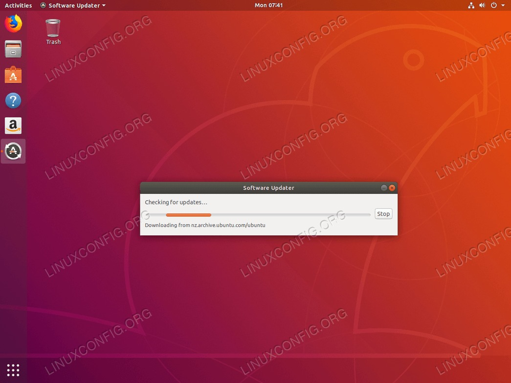 Ubuntu update - updated package index list