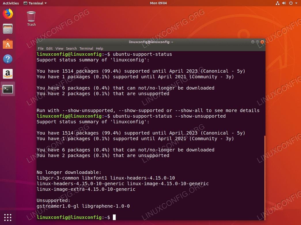 Ubuntu 18.04 update support status