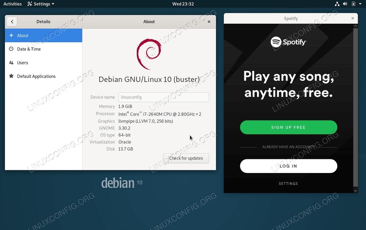 Spotify on Debian 10 Buster Linux Desktop